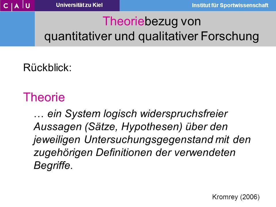 Theoriebezug von quantitativer und qualitativer Forschung