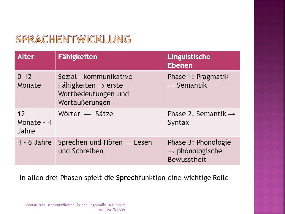 Sprachentwicklung Alter Fähigkeiten Linguistische Ebenen 0-12 Monate