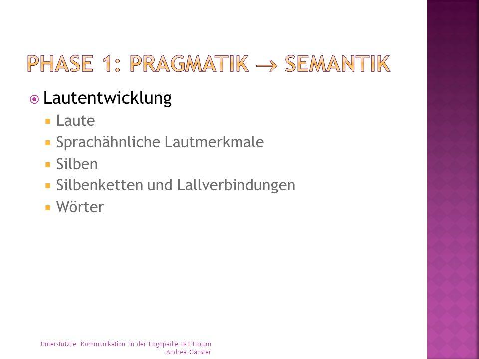 Phase 1: Pragmatik  semantik