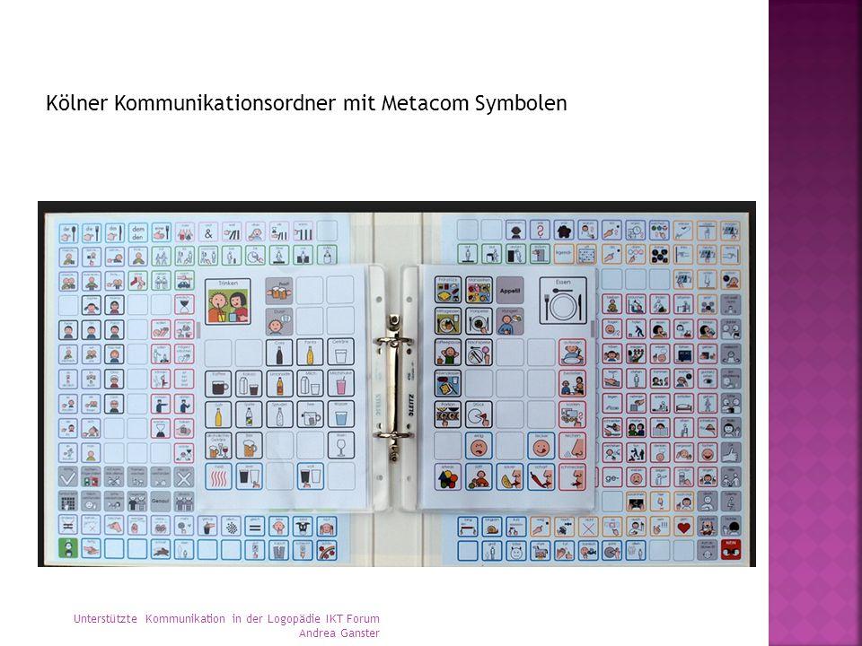 Kölner Kommunikationsordner mit Metacom Symbolen