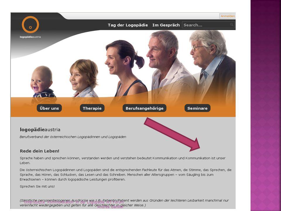 Unterstützte Kommunikation in der Logopädie IKT Forum Andrea Ganster