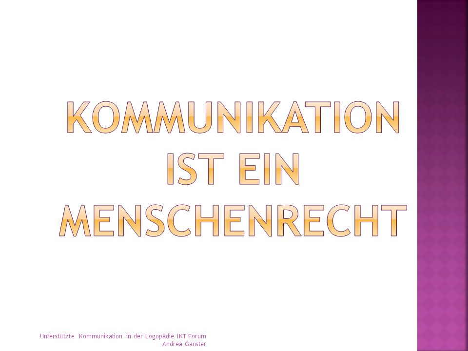 Kommunikation ist ein Menschenrecht