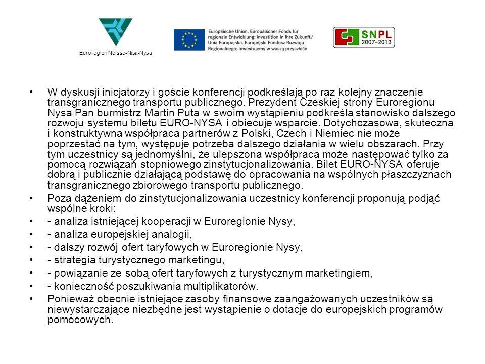 - analiza istniejącej kooperacji w Euroregionie Nysy,