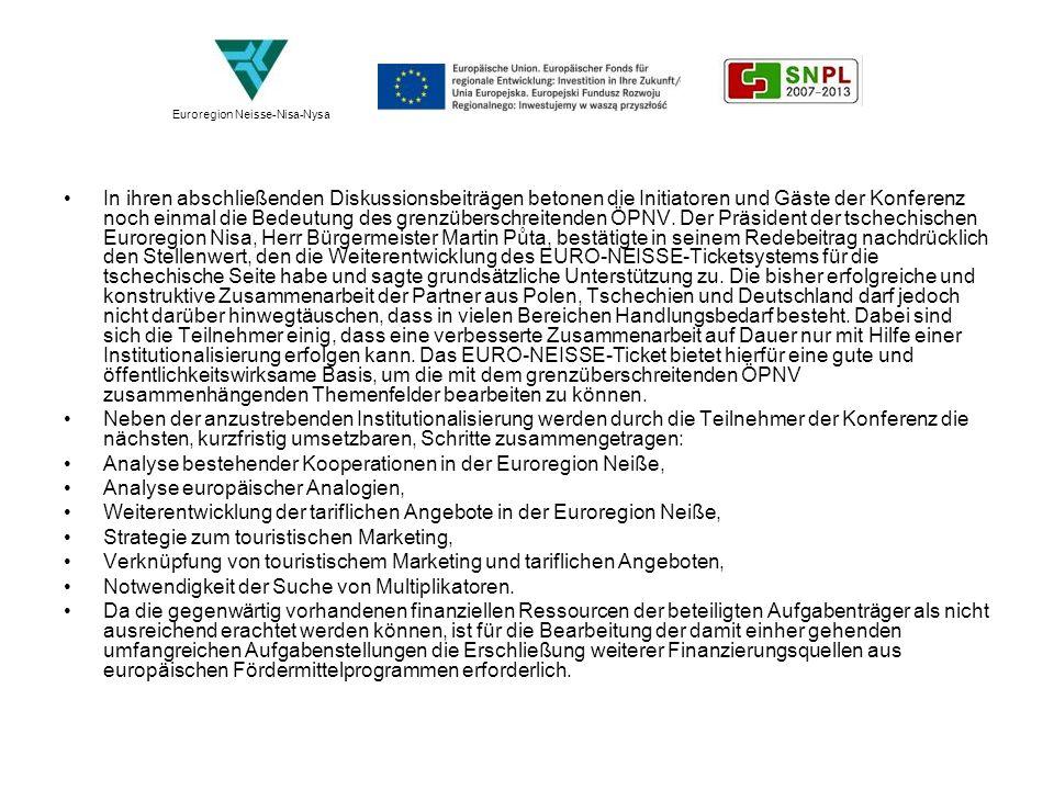 Analyse bestehender Kooperationen in der Euroregion Neiße,