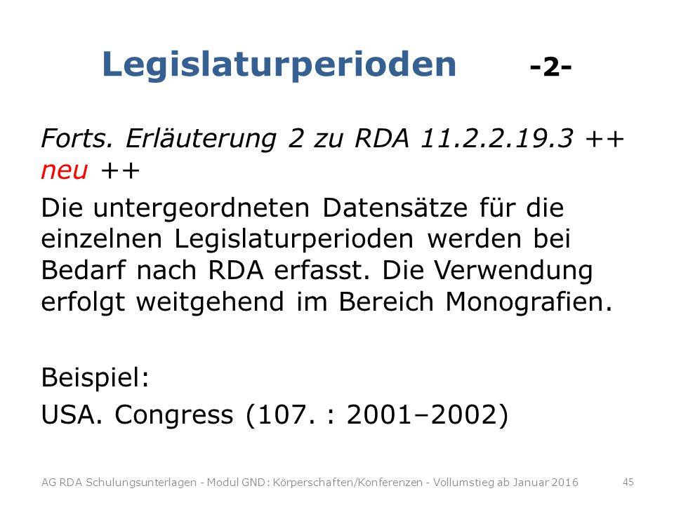 Legislaturperioden -2-