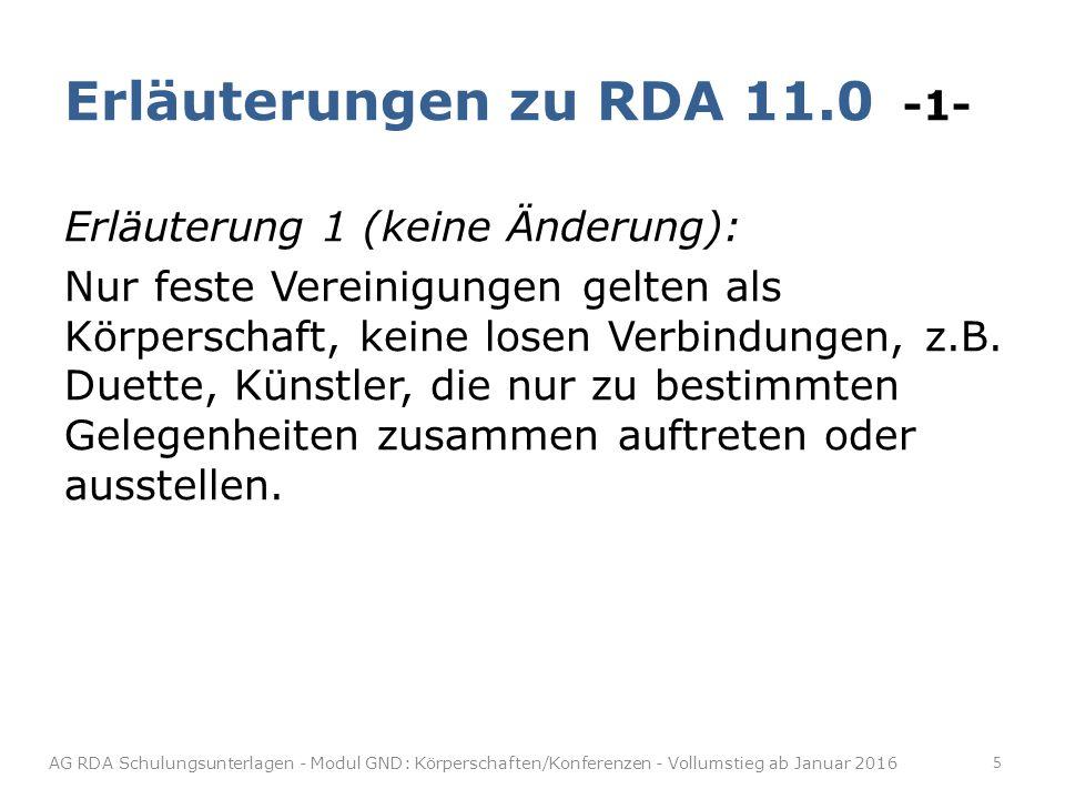 Erläuterungen zu RDA 11.0 -1-
