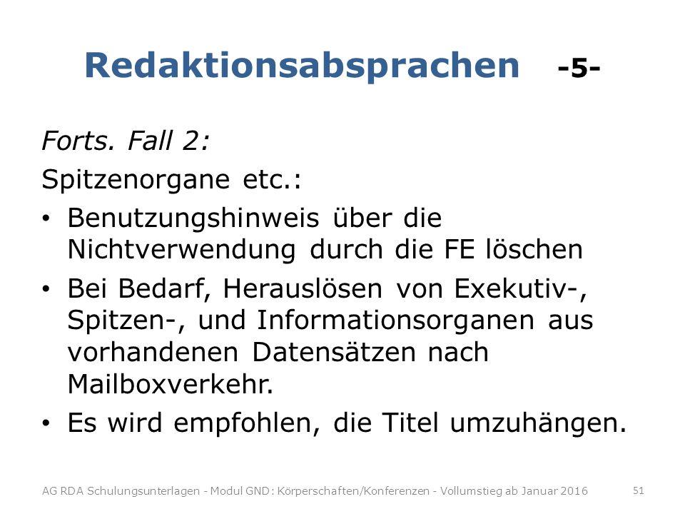 Redaktionsabsprachen -5-
