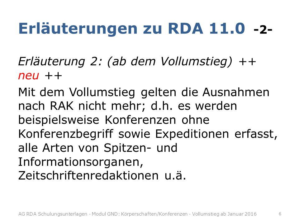 Erläuterungen zu RDA 11.0 -2-