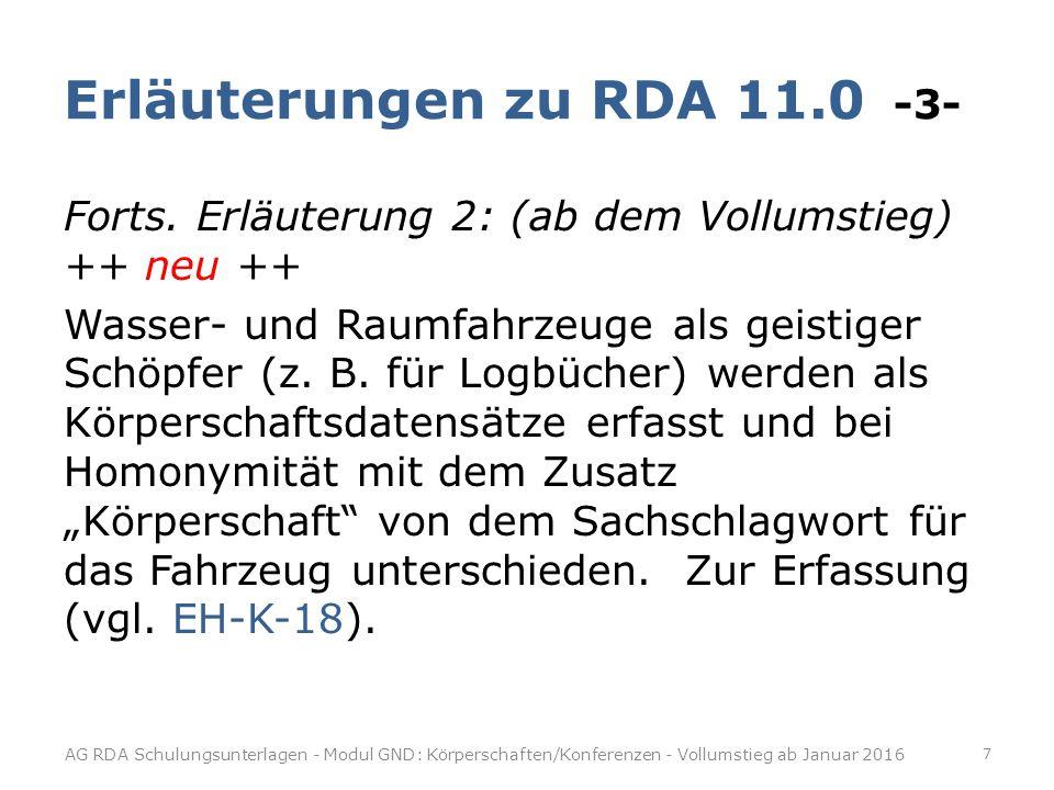 Erläuterungen zu RDA 11.0 -3-
