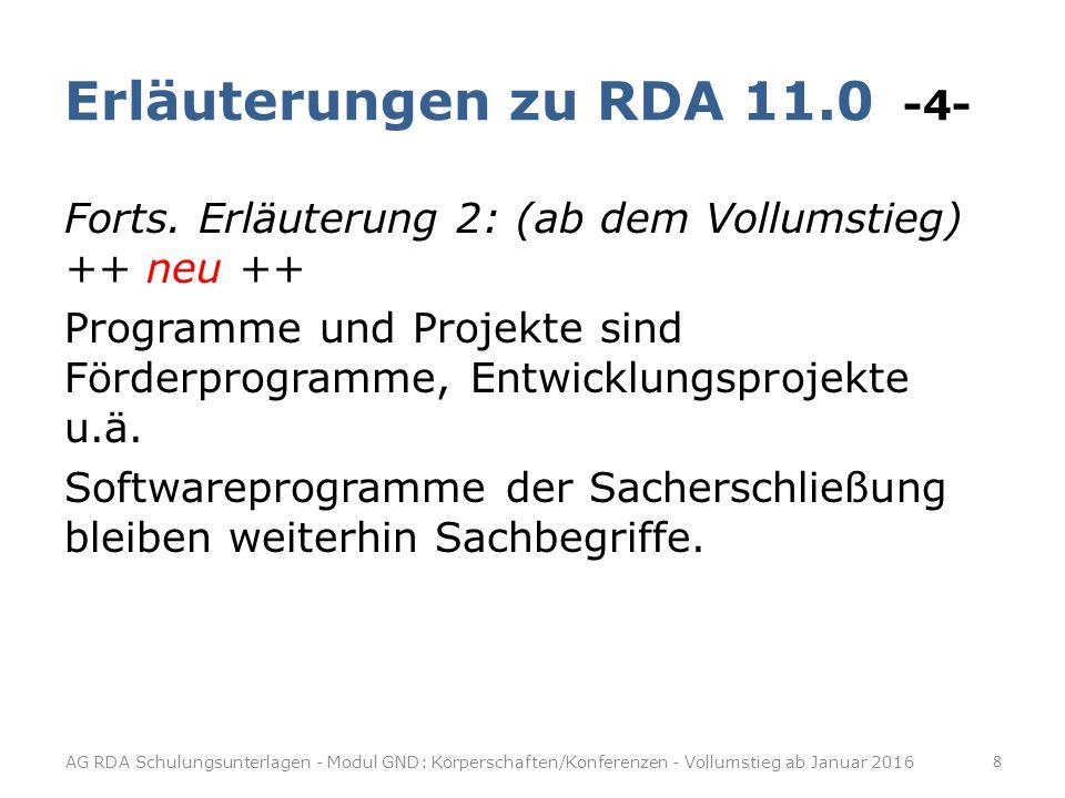 Erläuterungen zu RDA 11.0 -4-