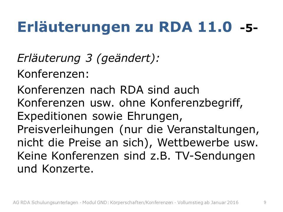Erläuterungen zu RDA 11.0 -5-