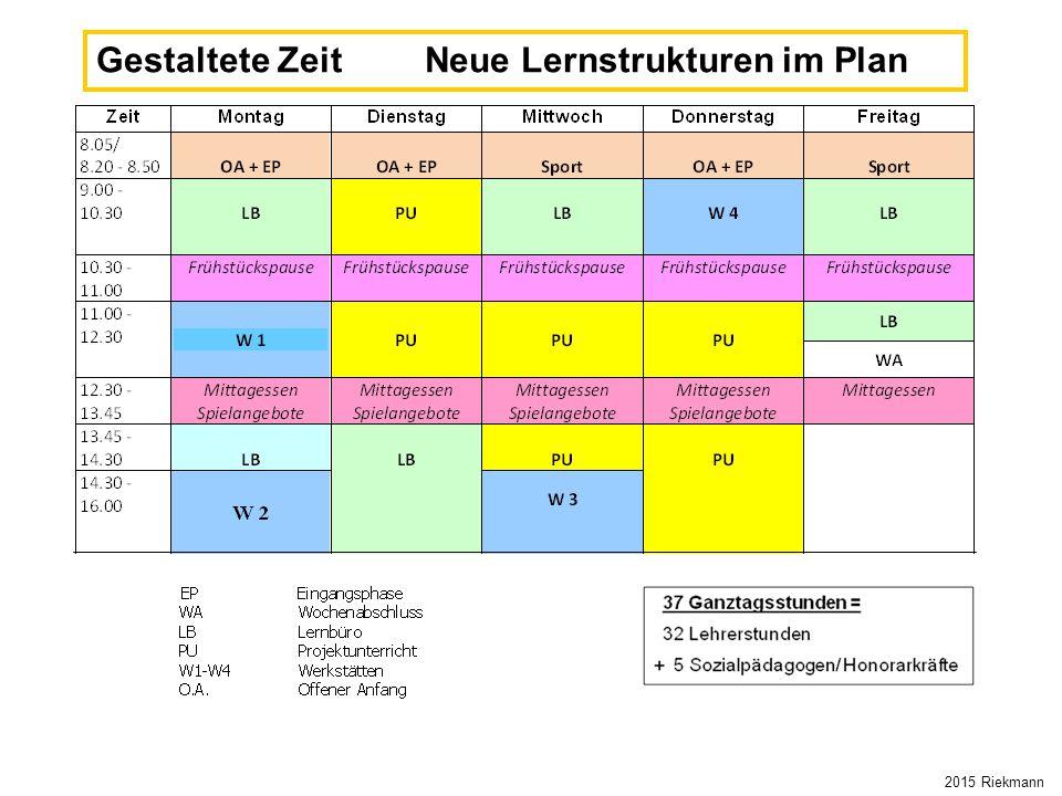 Gestaltete Zeit Neue Lernstrukturen im Plan