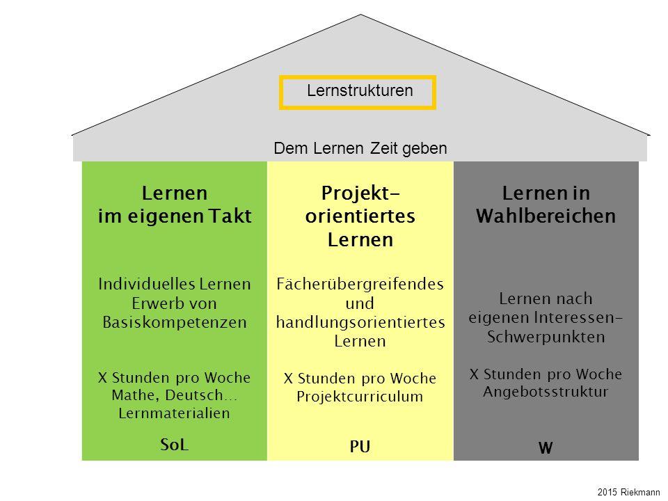 Lernen in Wahlbereichen