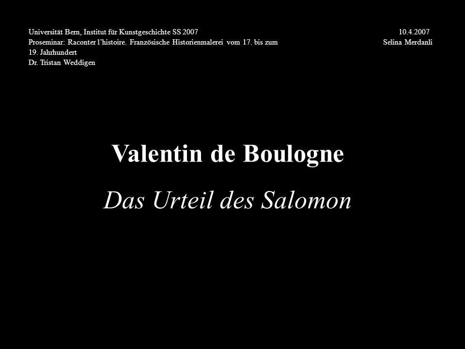Valentin de Boulogne Das Urteil des Salomon