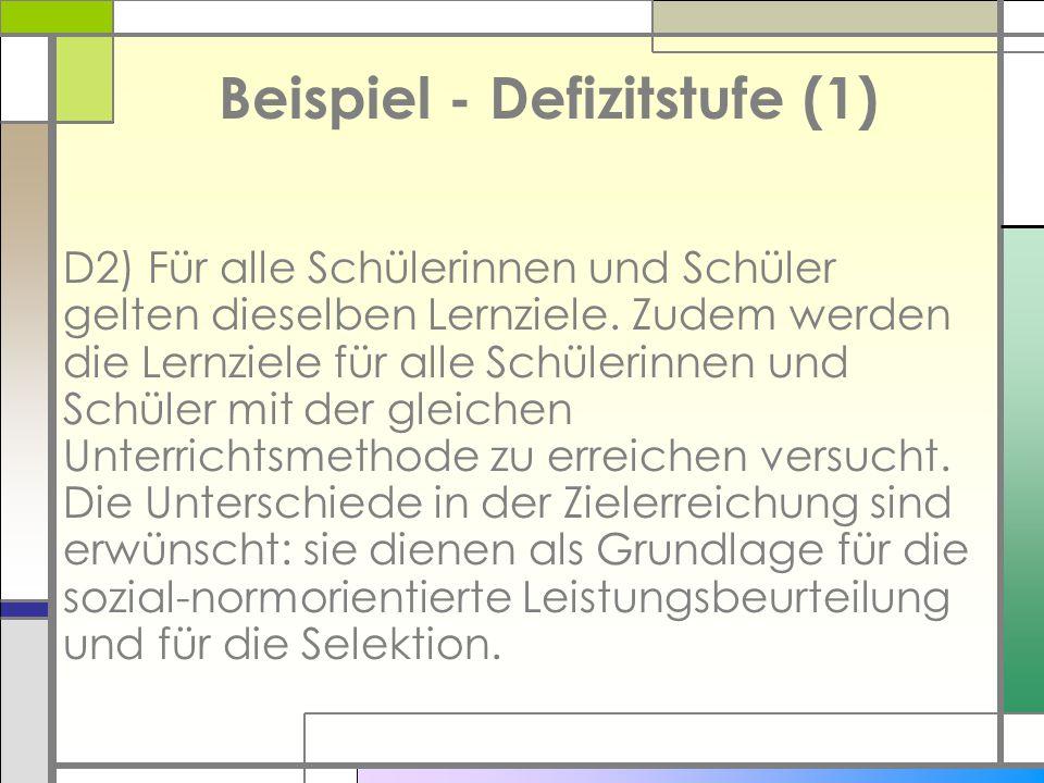 Beispiel - Defizitstufe (1)