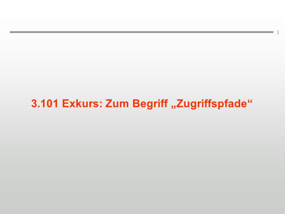 """3.101 Exkurs: Zum Begriff """"Zugriffspfade"""