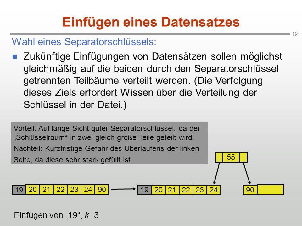 Einfügen eines Datensatzes