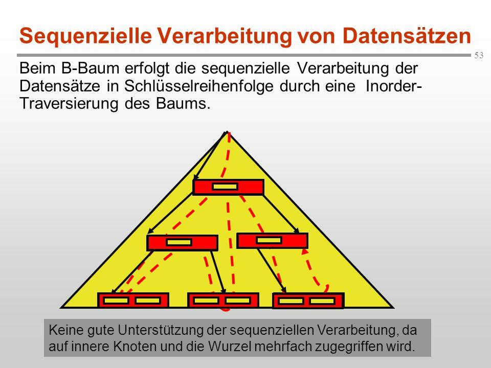 Sequenzielle Verarbeitung von Datensätzen