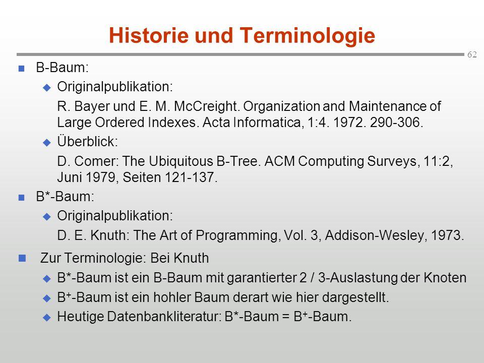 Historie und Terminologie