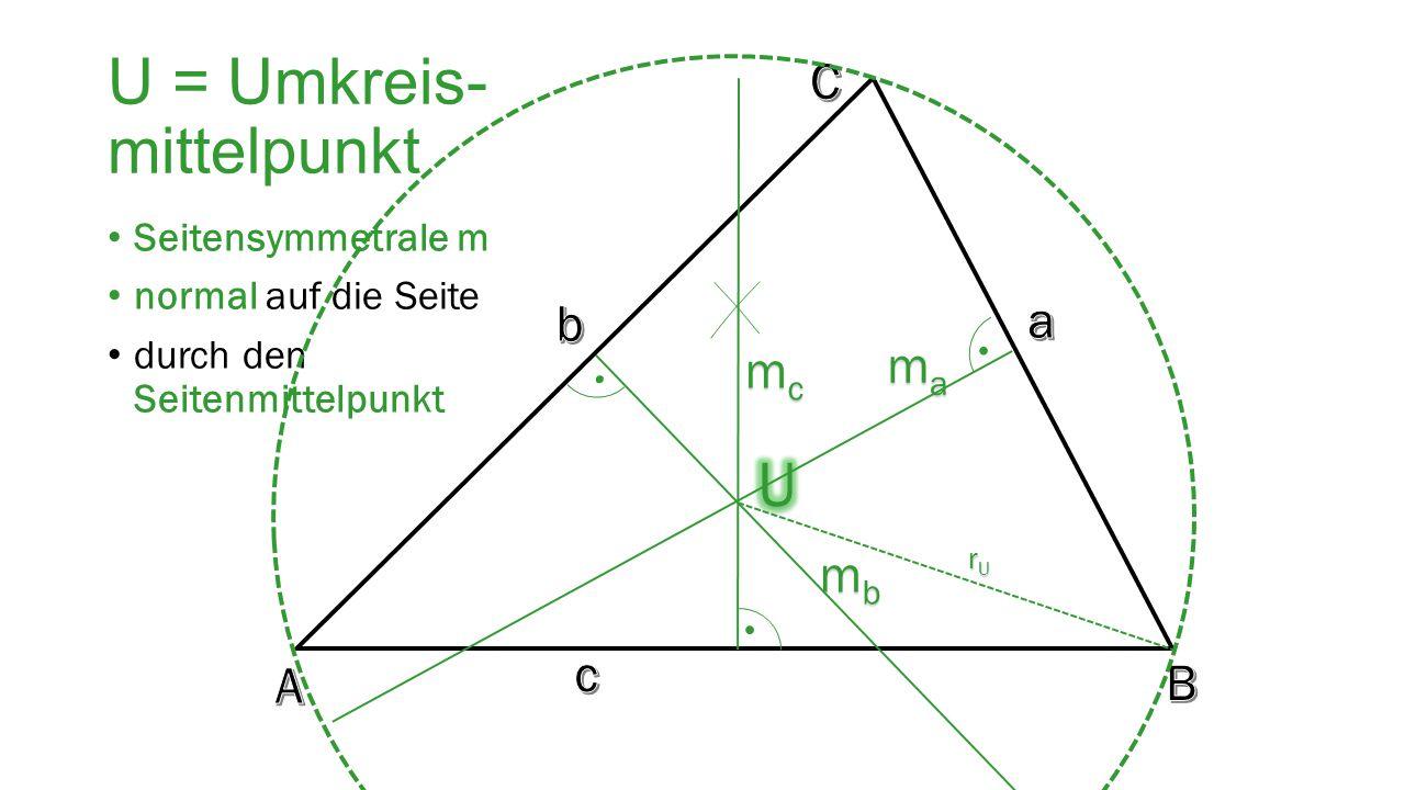 U = Umkreis- mittelpunkt