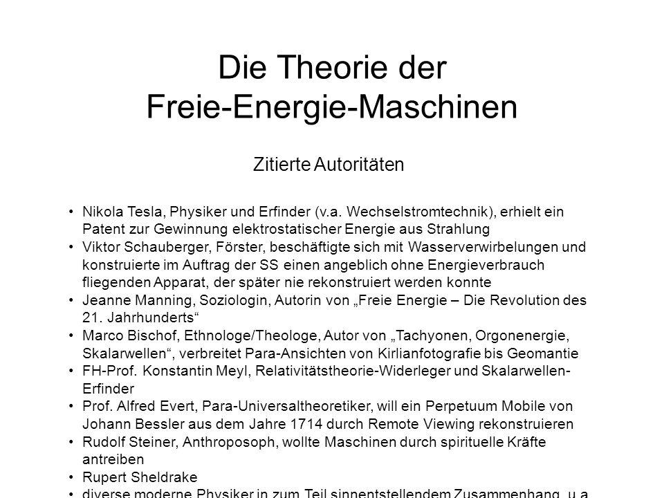 Die Theorie der Freie-Energie-Maschinen