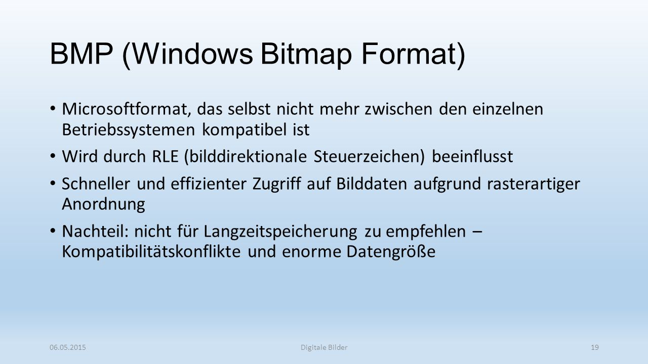 BMP (Windows Bitmap Format)