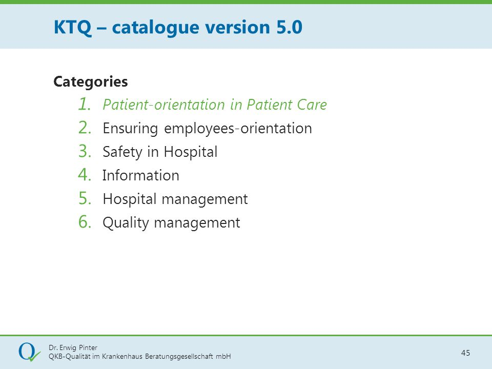 KTQ – catalogue version 5.0