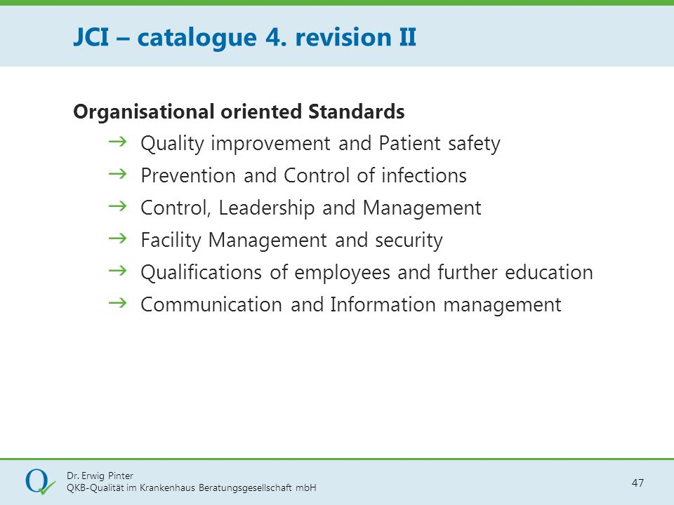 JCI – catalogue 4. revision II