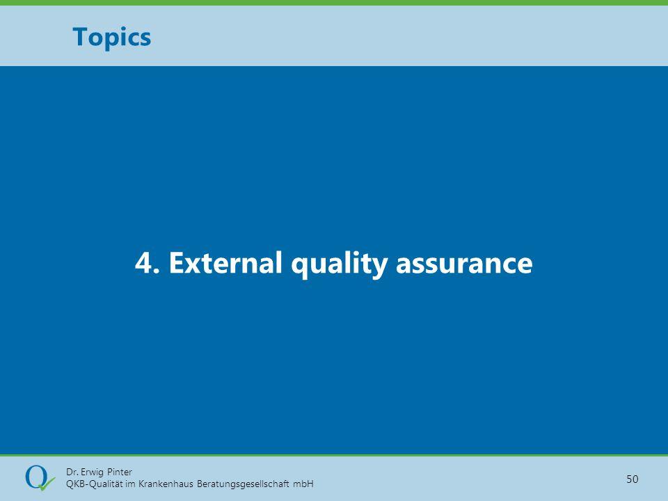 4. External quality assurance