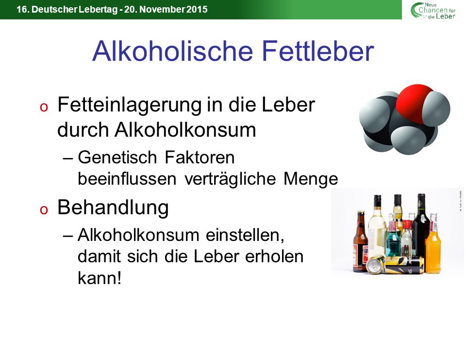 Alkoholische Fettleber