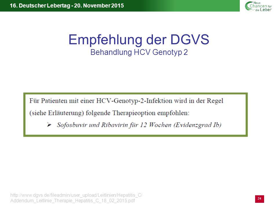 Empfehlung der DGVS Behandlung HCV Genotyp 2