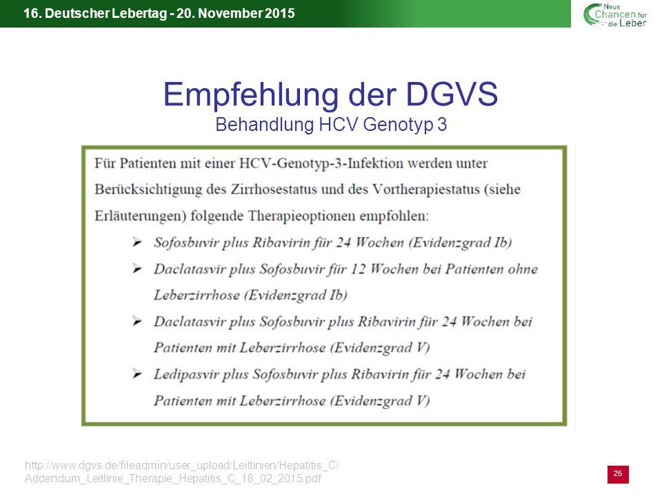 Empfehlung der DGVS Behandlung HCV Genotyp 3