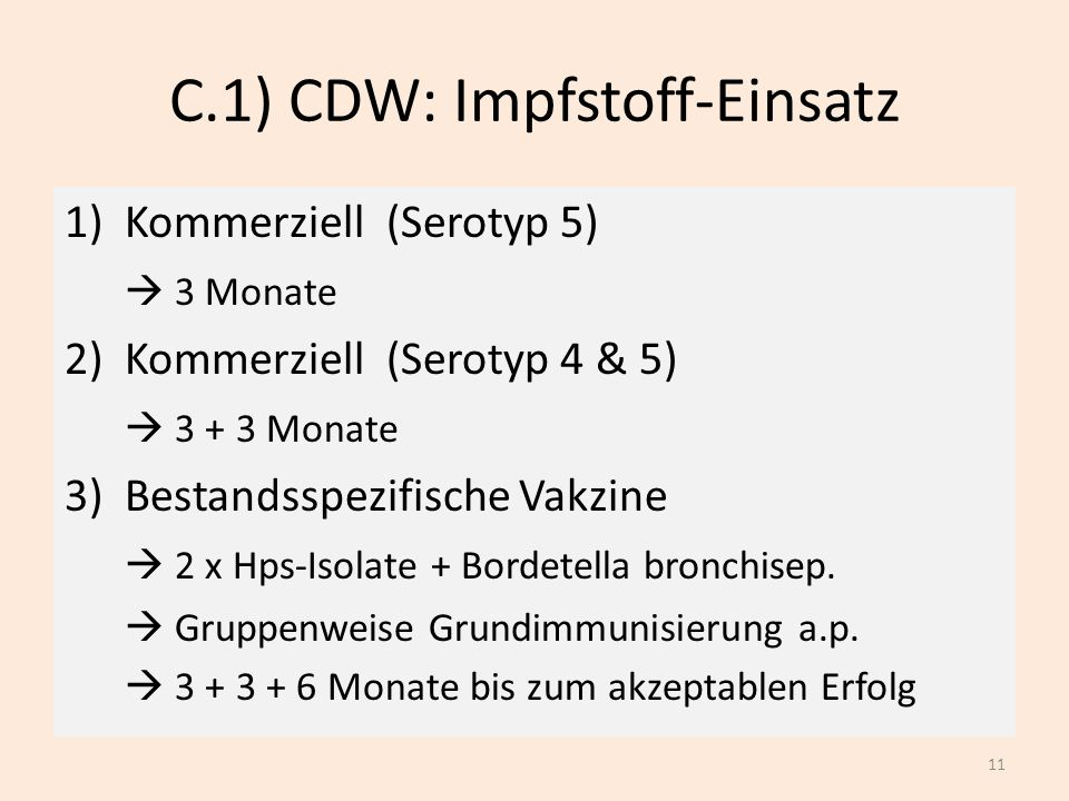 C.1) CDW: Impfstoff-Einsatz