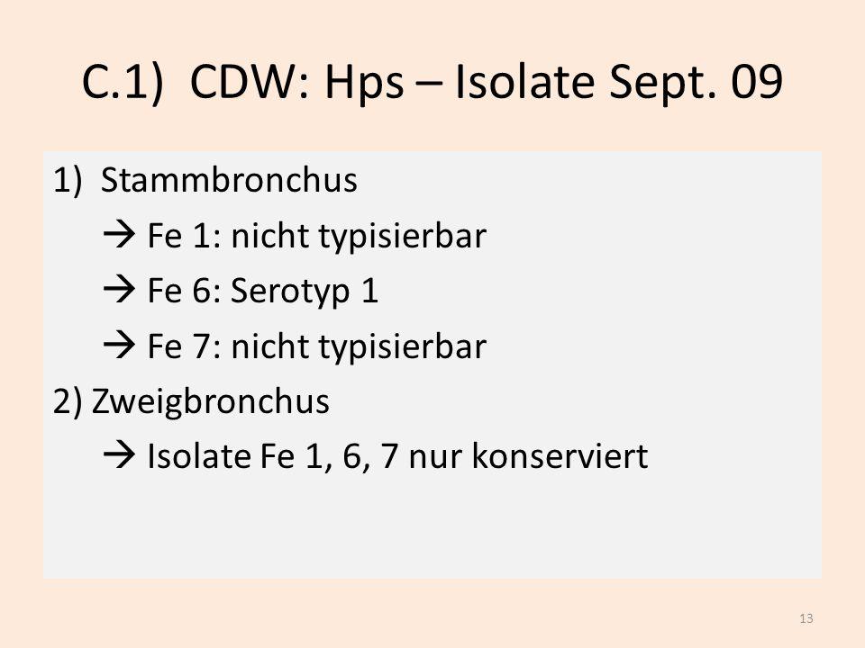 C.1) CDW: Hps – Isolate Sept. 09