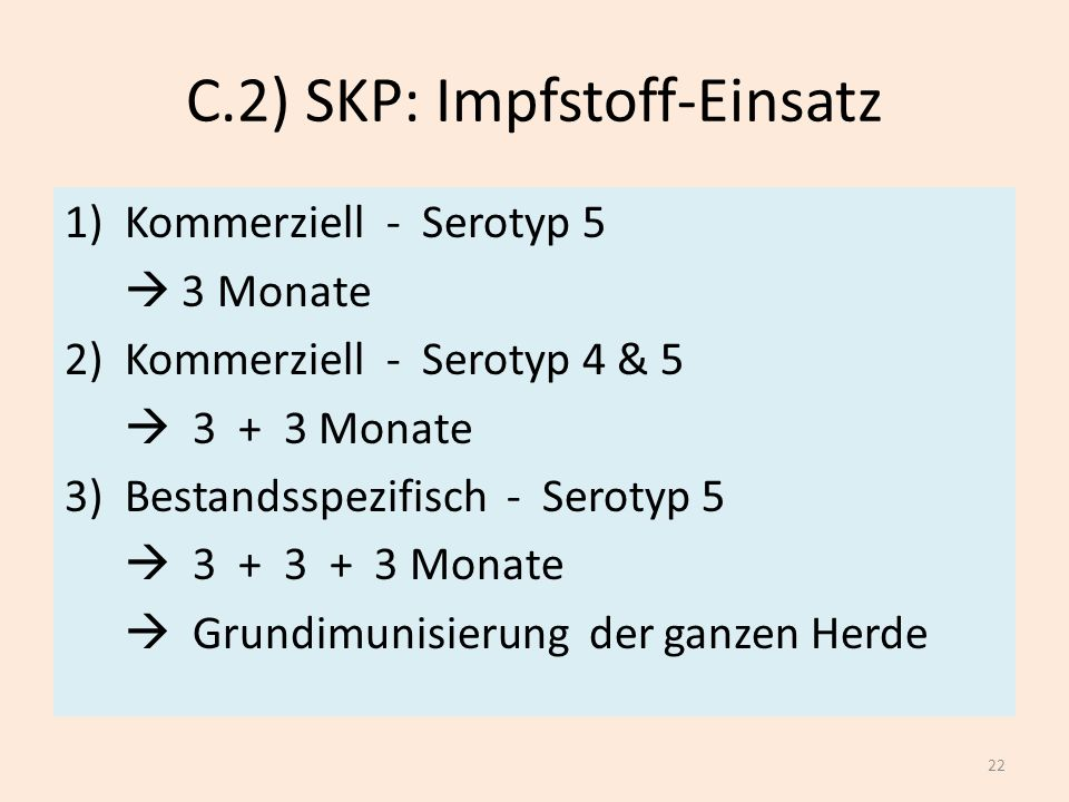 C.2) SKP: Impfstoff-Einsatz