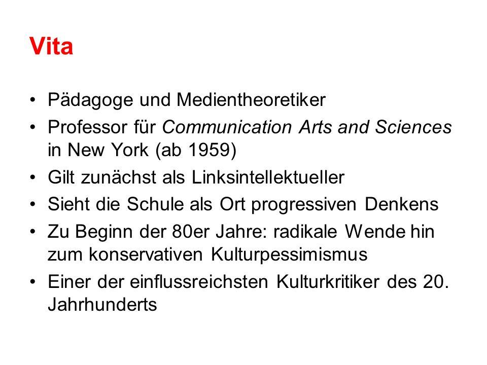 Vita Pädagoge und Medientheoretiker