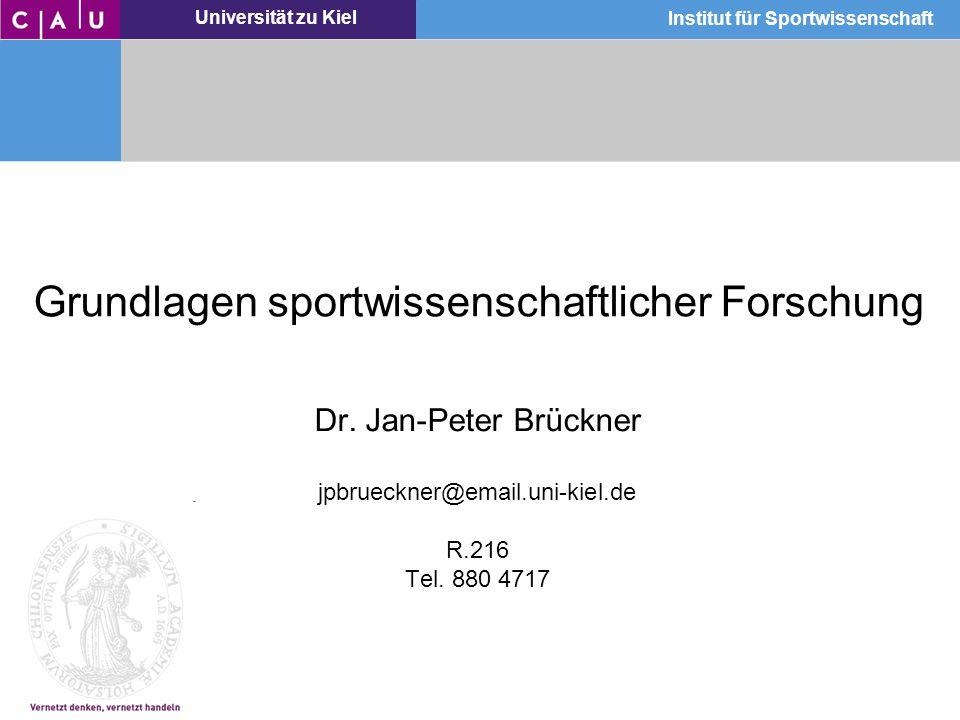 Grundlagen sportwissenschaftlicher Forschung