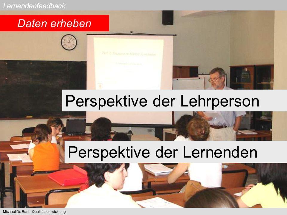Perspektive der Lehrperson
