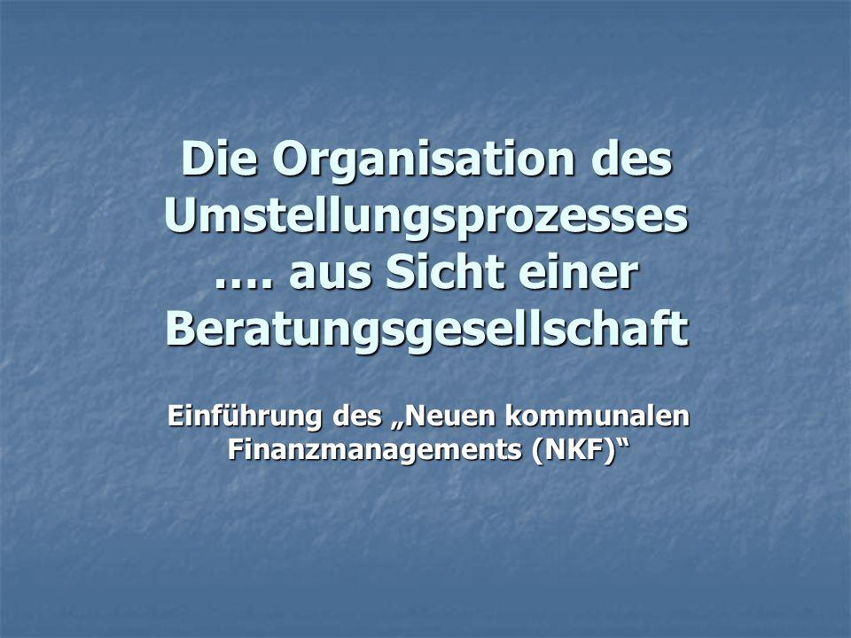 """Einführung des """"Neuen kommunalen Finanzmanagements (NKF)"""