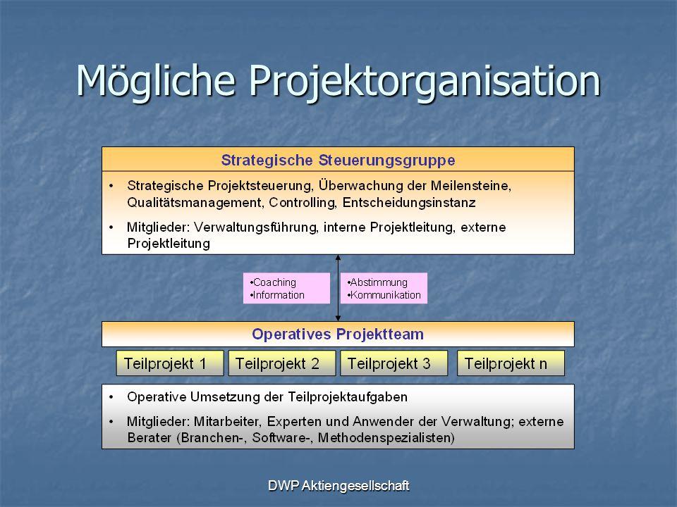 Mögliche Projektorganisation