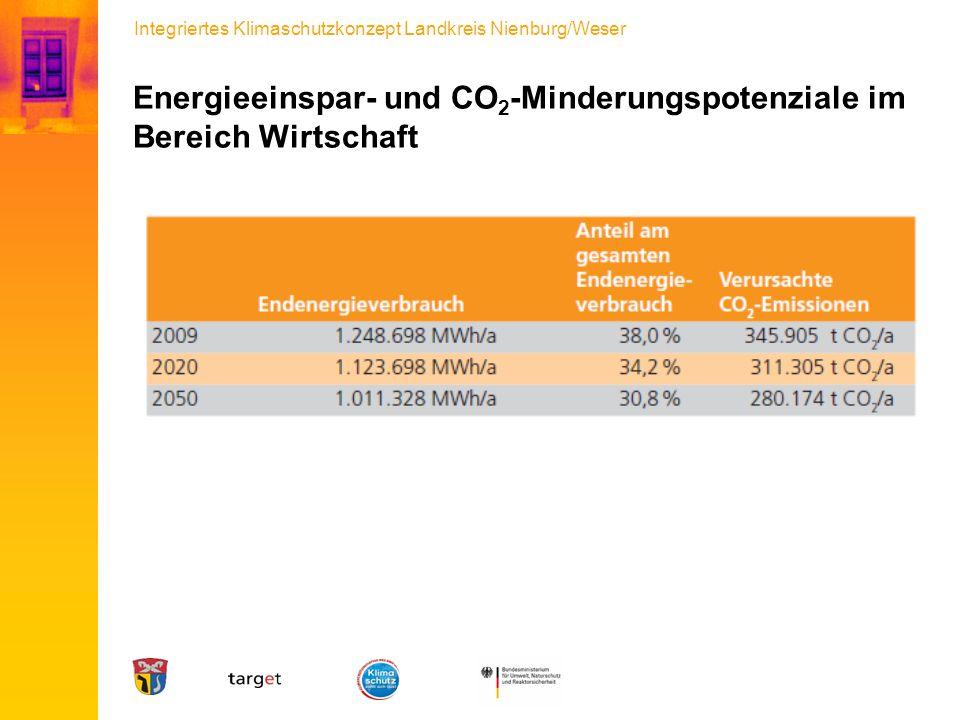 Energieeinspar- und CO2-Minderungspotenziale im Bereich Wirtschaft