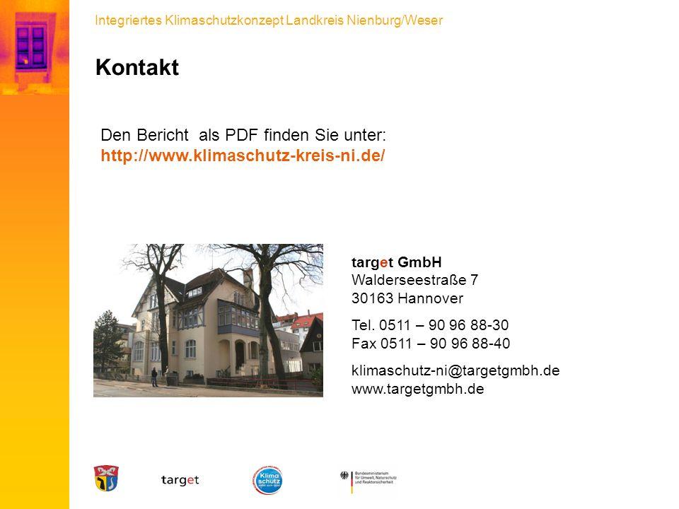 Kontakt Den Bericht als PDF finden Sie unter: http://www.klimaschutz-kreis-ni.de/ target GmbH. Walderseestraße 7.