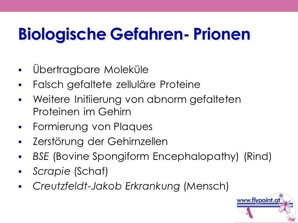 Biologische Gefahren- Prionen