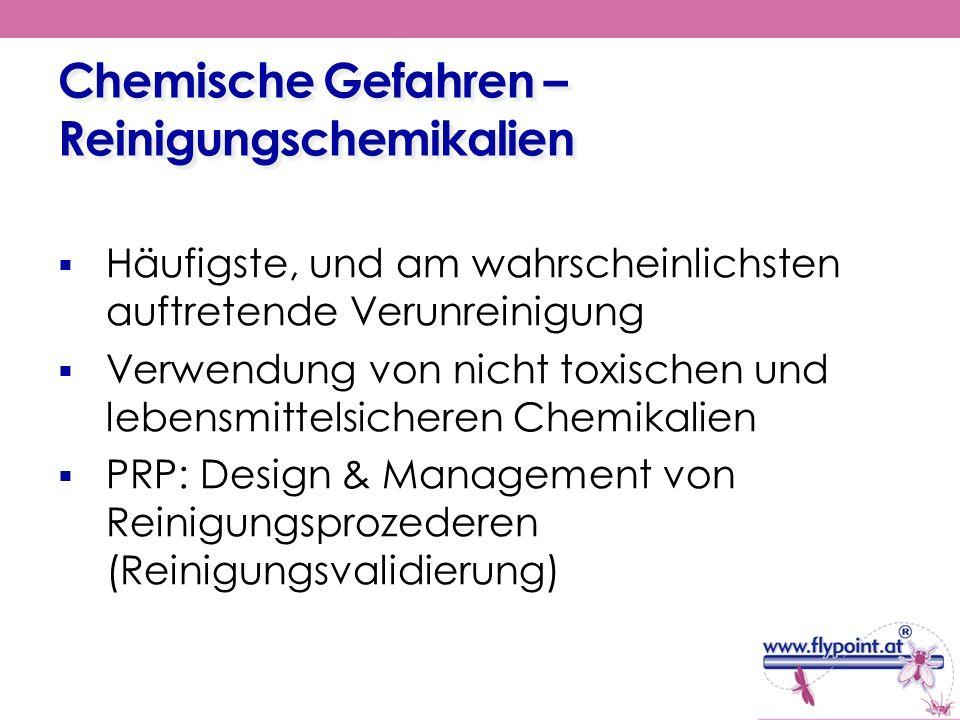 Chemische Gefahren – Reinigungschemikalien