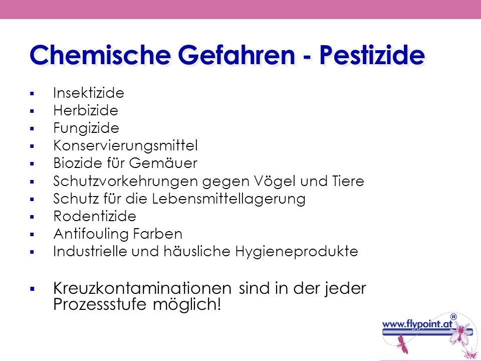 Chemische Gefahren - Pestizide