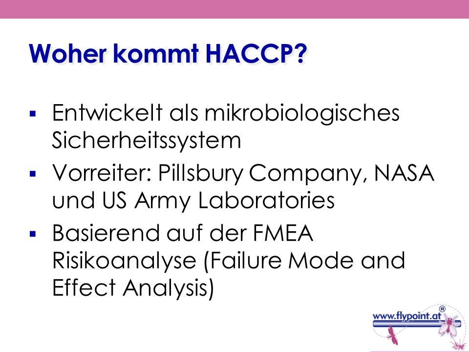 Woher kommt HACCP Entwickelt als mikrobiologisches Sicherheitssystem