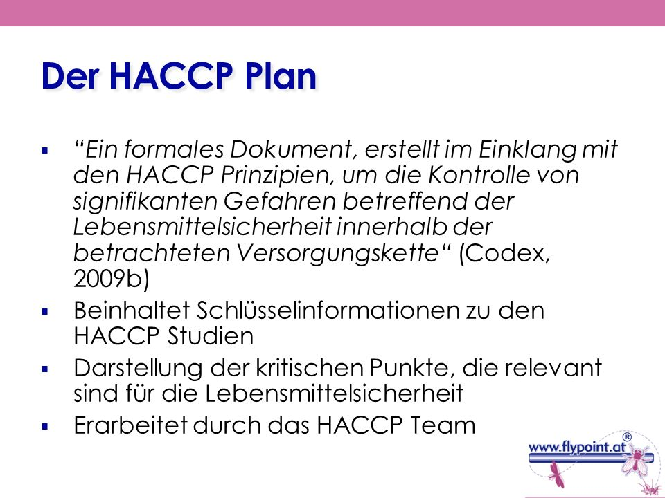 Der HACCP Plan