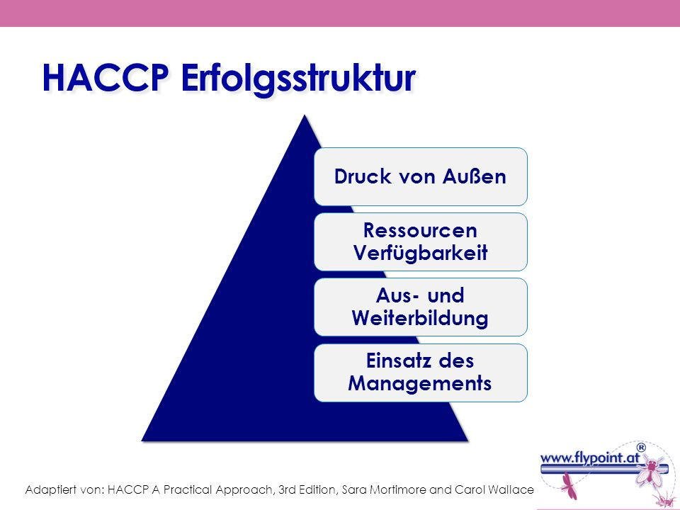 HACCP Erfolgsstruktur