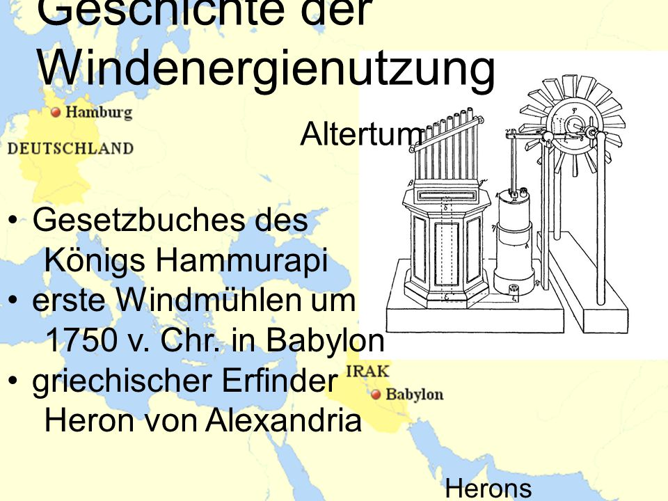 Geschichte der Windenergienutzung Altertum