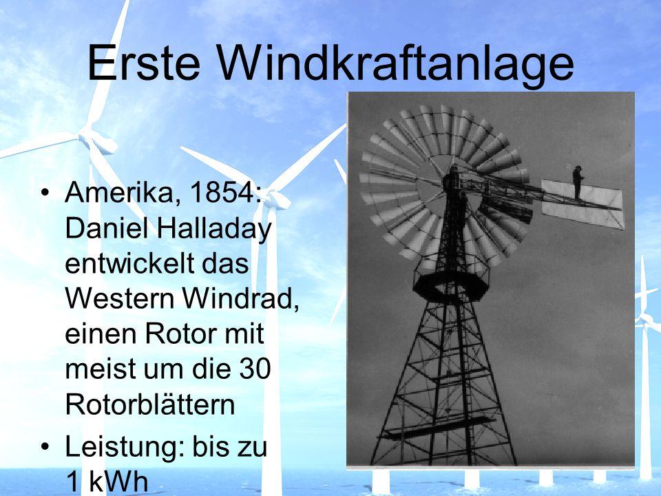Erste Windkraftanlage